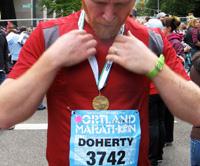 Thomas finishes the Portland Marathon 2009
