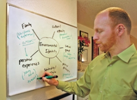 """Dr. Thomas Doherty maps out the influences on an individual's environmental identity. His """"ecopsychological"""" practice focuses on helping clients visualize — and realize — lifestyle changes."""